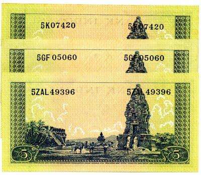 5 rupiah seri hewan