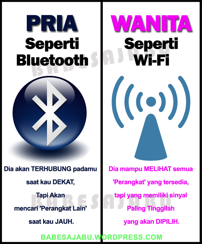 Pria Bluetooth Dan Wanita Wi Fi Babesajabu
